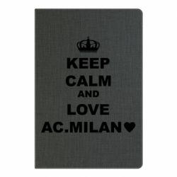 Блокнот А5 Keep calm and love AC Milan