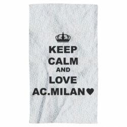 Рушник Keep calm and love AC Milan
