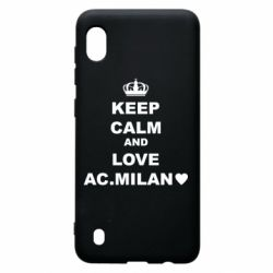 Чохол для Samsung A10 Keep calm and love AC Milan