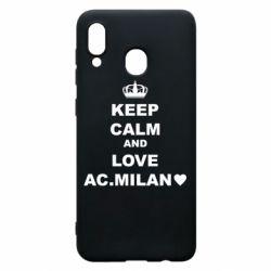 Чохол для Samsung A20 Keep calm and love AC Milan