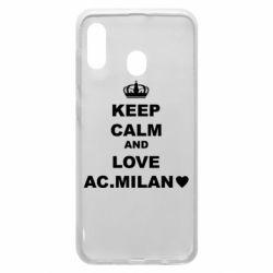 Чохол для Samsung A30 Keep calm and love AC Milan