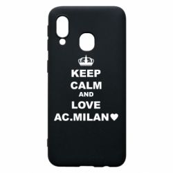 Чохол для Samsung A40 Keep calm and love AC Milan