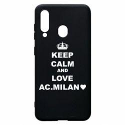 Чохол для Samsung A60 Keep calm and love AC Milan