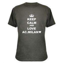 Камуфляжна футболка Keep calm and love AC Milan