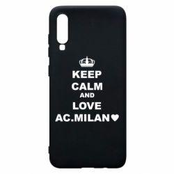 Чохол для Samsung A70 Keep calm and love AC Milan