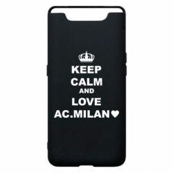 Чохол для Samsung A80 Keep calm and love AC Milan