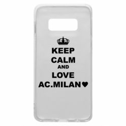 Чохол для Samsung S10e Keep calm and love AC Milan