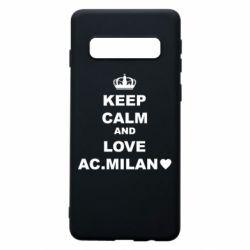Чохол для Samsung S10 Keep calm and love AC Milan