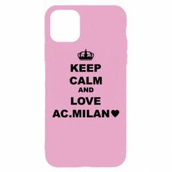 Чохол для iPhone 11 Keep calm and love AC Milan
