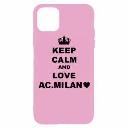 Чохол для iPhone 11 Pro Keep calm and love AC Milan