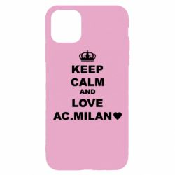 Чохол для iPhone 11 Pro Max Keep calm and love AC Milan