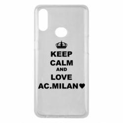 Чохол для Samsung A10s Keep calm and love AC Milan