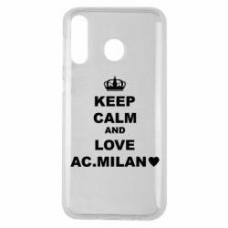 Чохол для Samsung M30 Keep calm and love AC Milan