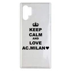 Чохол для Samsung Note 10 Plus Keep calm and love AC Milan