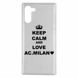 Чохол для Samsung Note 10 Keep calm and love AC Milan