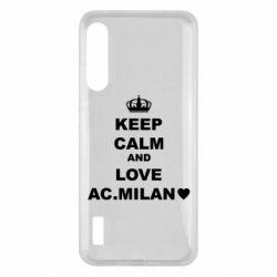 Чохол для Xiaomi Mi A3 Keep calm and love AC Milan