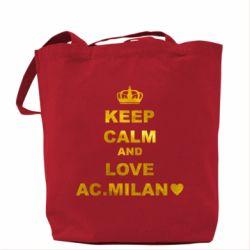 Сумка Keep calm and love AC Milan