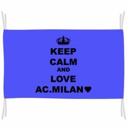 Прапор Keep calm and love AC Milan