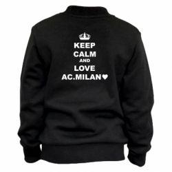 Дитячий бомбер Keep calm and love AC Milan