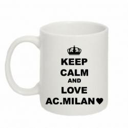Кружка 320ml Keep calm and love AC Milan