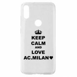 Чохол для Xiaomi Mi Play Keep calm and love AC Milan