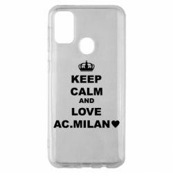 Чохол для Samsung M30s Keep calm and love AC Milan