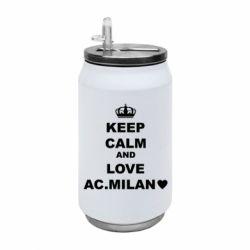 Термобанка 350ml Keep calm and love AC Milan