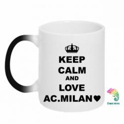 Кружка-хамелеон Keep calm and love AC Milan