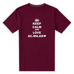 Чоловіча стрейчева футболка Keep calm and love AC Milan