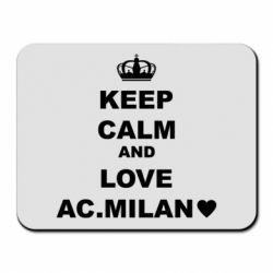 Килимок для миші Keep calm and love AC Milan