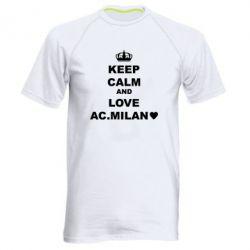 Чоловіча спортивна футболка Keep calm and love AC Milan