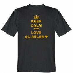 Чоловіча футболка Keep calm and love AC Milan