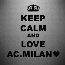 Наклейка Keep calm and love AC Milan