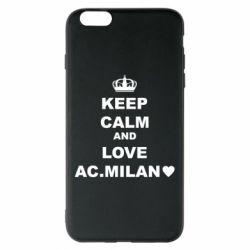 Чохол для iPhone 6 Plus/6S Plus Keep calm and love AC Milan