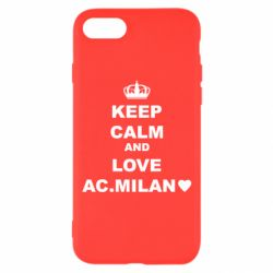 Чохол для iPhone 7 Keep calm and love AC Milan