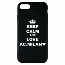 Чохол для iPhone 8 Keep calm and love AC Milan