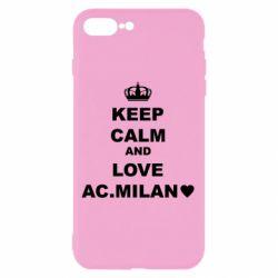Чохол для iPhone 8 Plus Keep calm and love AC Milan
