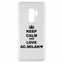 Чохол для Samsung S9+ Keep calm and love AC Milan