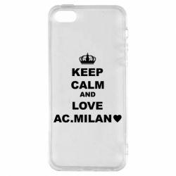 Чохол для iphone 5/5S/SE Keep calm and love AC Milan