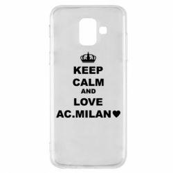 Чохол для Samsung A6 2018 Keep calm and love AC Milan