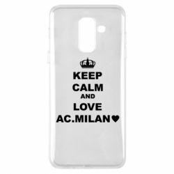 Чохол для Samsung A6+ 2018 Keep calm and love AC Milan