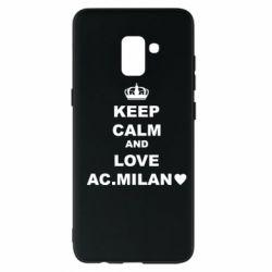 Чохол для Samsung A8+ 2018 Keep calm and love AC Milan