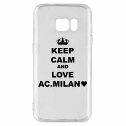 Чохол для Samsung S7 Keep calm and love AC Milan