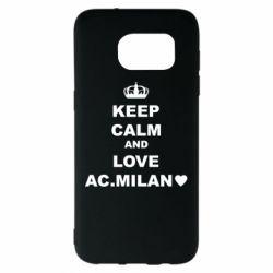 Чохол для Samsung S7 EDGE Keep calm and love AC Milan
