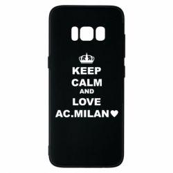 Чохол для Samsung S8 Keep calm and love AC Milan