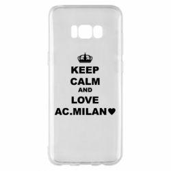 Чохол для Samsung S8+ Keep calm and love AC Milan