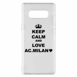 Чохол для Samsung Note 8 Keep calm and love AC Milan