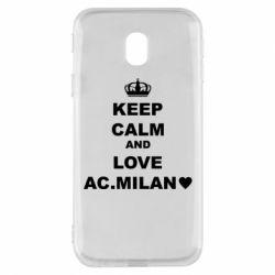 Чохол для Samsung J3 2017 Keep calm and love AC Milan