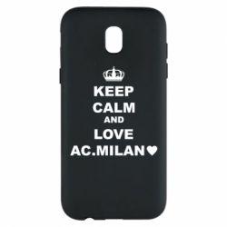 Чохол для Samsung J5 2017 Keep calm and love AC Milan