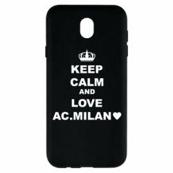 Чохол для Samsung J7 2017 Keep calm and love AC Milan